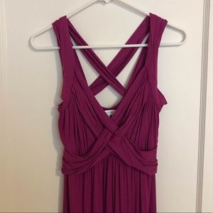 New Raspberry Crisscross Maxi Maternity Dress
